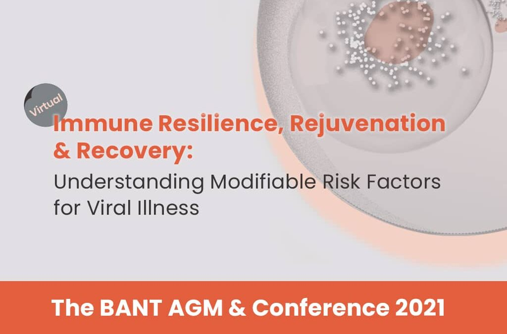 New Event: Immune Resilience, Rejuvenation and Recovery 22 May 2021